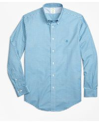 Brooks Brothers | Non-iron Milano Fit Gingham Sport Shirt | Lyst