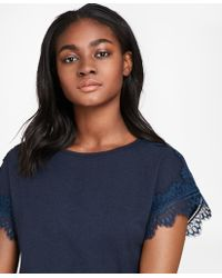 Brooks Brothers - Lace-trimmed Dolman-sleeve T-shirt - Lyst