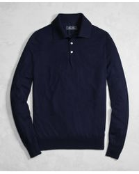 Brooks Brothers - Golden Fleece® 3-d Knit Fine-gauge Merino Wool Polo Sweater - Lyst