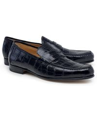 Brooks Brothers - Alligator Penny Loafers - Lyst