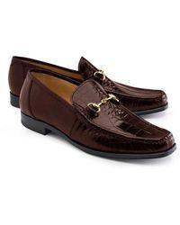 Brooks Brothers | Genuine American Alligator Classic Bit Loafers | Lyst