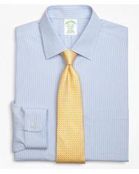 Brooks Brothers - Milano Slim-fit Dress Shirt, Non-iron Tonal Framed Stripe - Lyst