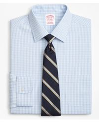 Brooks Brothers - Traditional Relaxed-fit Dress Shirt, Non-iron Triple Check - Lyst