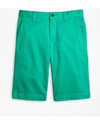 Brooks Brothers - Washed Cotton Stretch Chino Shorts - Lyst