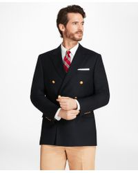 Brooks Brothers | Country Club Regent Fit Saxxon Wool Double-breasted Blazer | Lyst