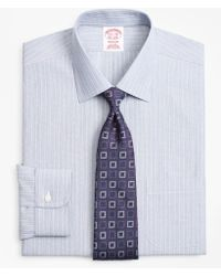 Brooks Brothers - Madison Classic-fit Dress Shirt, Non-iron Hairline Ground Alternating Stripe - Lyst
