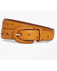 Brooks Brothers - Ostrich Covered Buckle Belt - Lyst