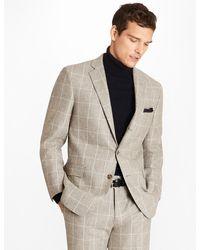 Brooks Brothers - Regent Fit Windowpane Flannel 1818 Suit - Lyst