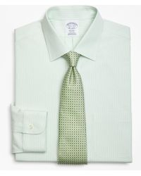 Brooks Brothers - Milano Slim-fit Dress Shirt, Non-iron Tonal Framed Stripe - Lyst