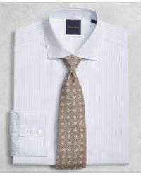 Brooks Brothers - Golden Fleece® Milano Fit Two-tone Alternating-stripe English-collar Dress Shirt - Lyst