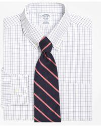 Brooks Brothers - Non-iron Regent Fit Windowpane Dress Shirt - Lyst