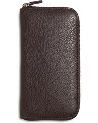 Brooks Brothers - Pebble Leather Travel Wallet - Lyst