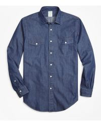 Brooks Brothers - Milano Fit Vintage Chambray Sport Shirt - Lyst