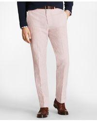 Brooks Brothers - Regent Fit Seersucker Trousers - Lyst