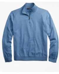 Brooks Brothers - Supima® Cotton Half-zip Sweater - Lyst