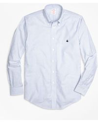 Brooks Brothers - Non-iron Milano Fit Oxford Stripe Sport Shirt - Lyst