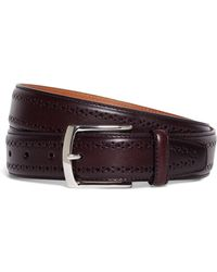 Brooks Brothers - Allen Edmonds Perforated Belt - Lyst