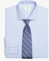 Brooks Brothers - Milano Slim-fit Dress Shirt, Non-iron Dobby Windowpane - Lyst