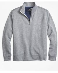 Brooks Brothers - Double-faced Cotton Half-zip - Lyst