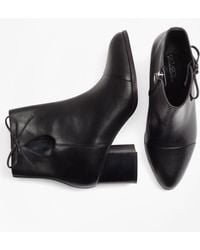 Brooks Brothers - Bow-trimmed Leather Ankle Boots - Lyst