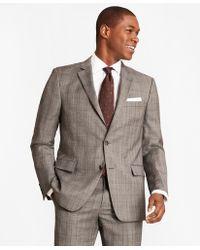Brooks Brothers - Regent Fit Saxxontm Wool Grey Plaid 1818 Suit - Lyst
