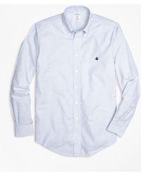 Brooks Brothers - Non-iron Regent Fit Oxford Stripe Sport Shirt - Lyst