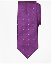 Brooks Brothers - Spaced Circle And Square Tie - Lyst