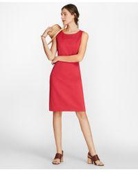 Brooks Brothers - Ponte Knit Sleeveless Sheath Dress - Lyst