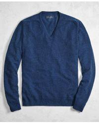 Brooks Brothers - Golden Fleece® 3-d Knit Cashmere Raglan V-neck Jumper - Lyst
