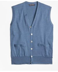 Brooks Brothers - Brookstechtm Merino Wool Button-front Vest - Lyst