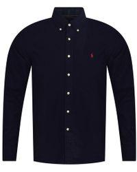 Polo Ralph Lauren - Navy Long Sleeve Shirt - Lyst