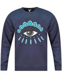 KENZO - Navy Eye Logo Sweatshirt - Lyst