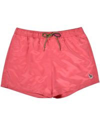 PS by Paul Smith - Raspberry Zebra Logo Swim Shorts - Lyst