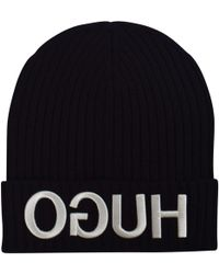 HUGO - Men's Beanie Hat - Lyst