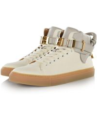 Buscemi - Off White 100mm Clip Canvas Trainers - Lyst