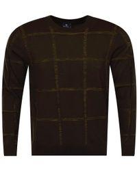 Paul Lyst Knit Large Khaki Ps Smith Thin By Jumper Check Tn0nqz5a1