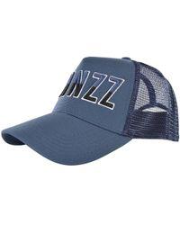 TWINZZ - Blue Contrast Mesh Trucker Cap - Lyst