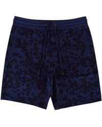 Michael Kors - Navy Camo Jersey Shorts - Lyst