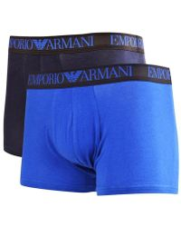 Emporio Armani - Blue Two Pack Boxer Trunks - Lyst