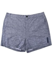Michael Kors | Navy Pattern Swim Shorts | Lyst