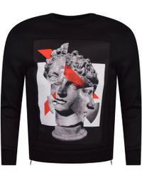 Neil Barrett - Black Geometric Sculpture Sweatshirt - Lyst