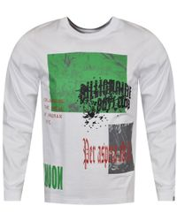 BBCICECREAM - White/multi Space Collage Long Sleeve T-shirt - Lyst
