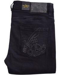 Vivienne Westwood - Black Stitch Logo Skinny Jeans - Lyst