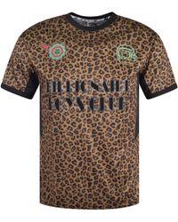 BBCICECREAM - Camo Leopard Soccer T-shirt - Lyst