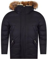 Mackage - Black Fur Hooded Parka Jacket - Lyst