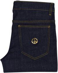 Love Moschino - Denim Stretch Peace Logo Jeans - Lyst