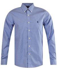 Polo Ralph Lauren - Blue Check Long Sleeve Shirt - Lyst