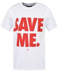 Blood Brother - White Save Me T-shirt - Lyst