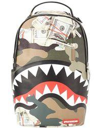 Sprayground Camo Money Shark Backpack - Multicolour