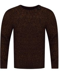 Belstaff - Burnt Orange Thick Knit Jumper - Lyst
